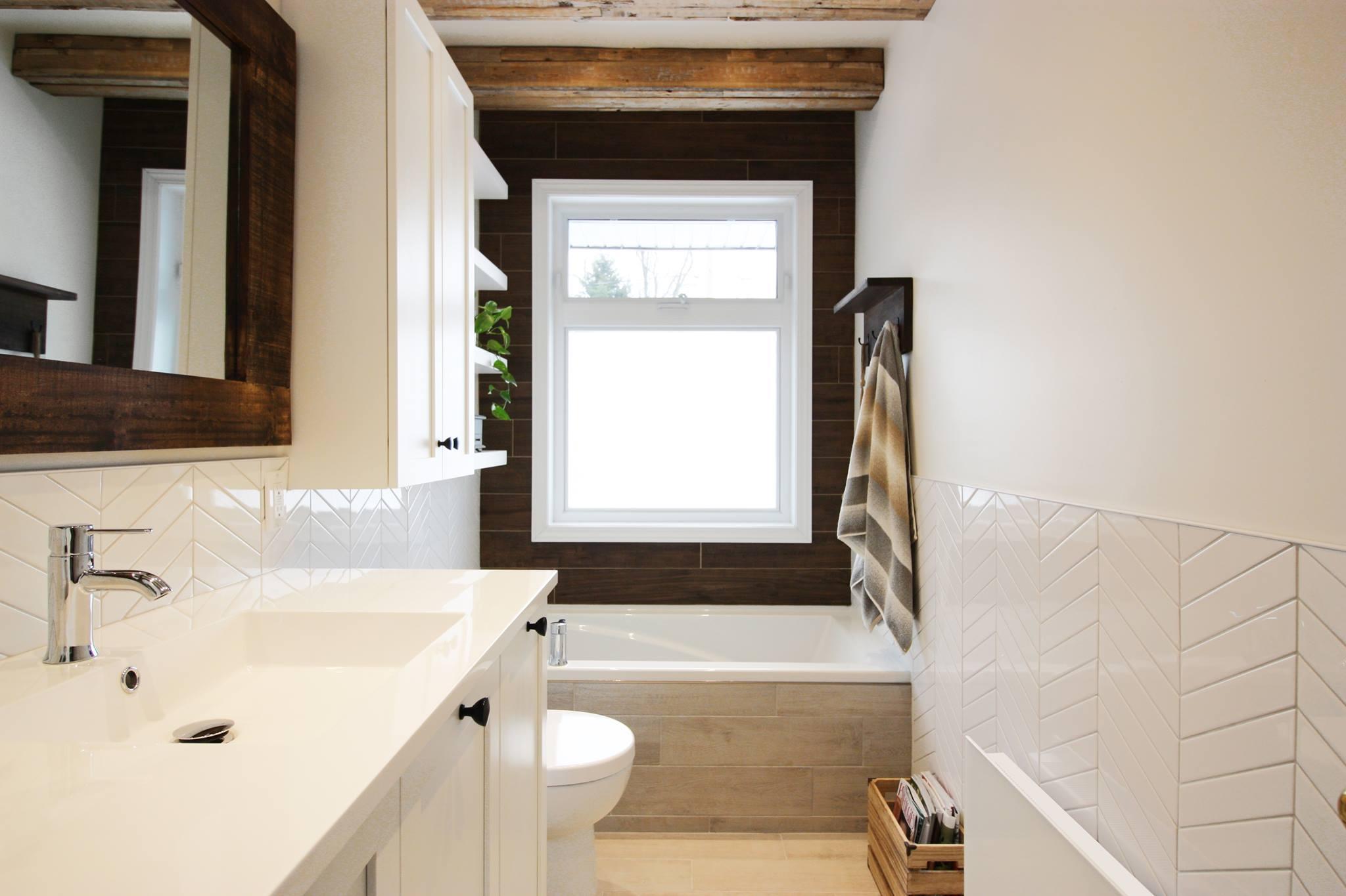 Une salle de bain rustique / contemporaine | Magazine | La Pièce